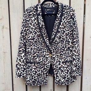 Leopard Print Blazer by Eloquii
